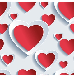 Valentines Day seamless pattern 3d hearts vector image vector image