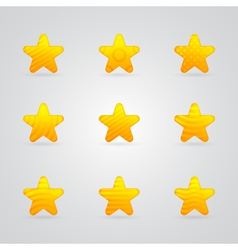 yellow star icons set vector image