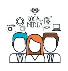 avatar group social media design isolated vector image