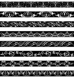 Black White element border designs vector image