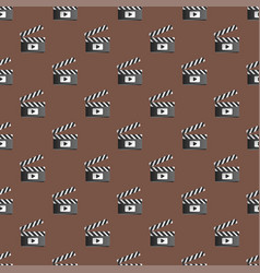 clapper board seamless pattern vector image