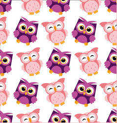 colorful owl pattern on vector image vector image