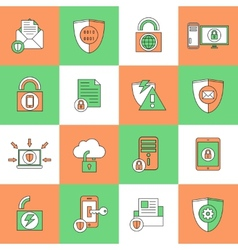Data Protection Security Icons vector image vector image