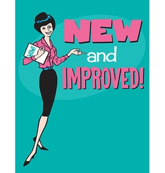 New and Improved retro design vector image vector image