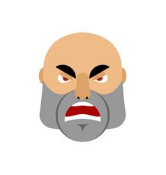 Brutal man angry emoji men face aggressive vector