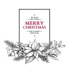 Christmas garland hand drawn vector image vector image
