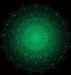 Ethnic Fractal Glowing Mandala Meditation looks vector image