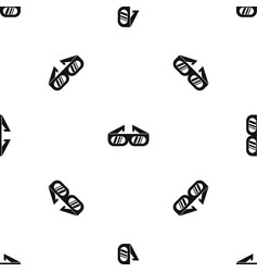 glasses for 3d movie pattern seamless black vector image vector image