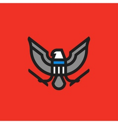 heraldry symbol of american eagle with shield vector image