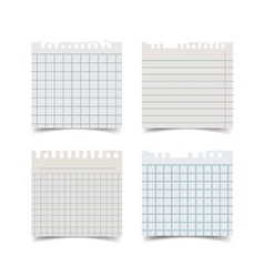 Old fashion sticky notebook paper sheet vector image vector image