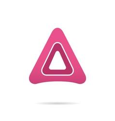 A letter symbol space ship logo vector