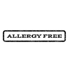 Allergy free watermark stamp vector