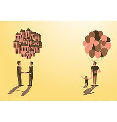 Balloon Asset for kiddad businessman idea vector image