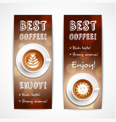 best coffee art banners vector image