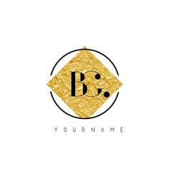 bg letter logo with golden foil texture vector image