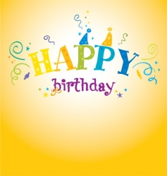 bright birthday vector image