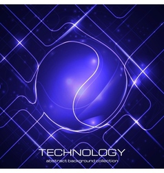 Bright technology background vector image