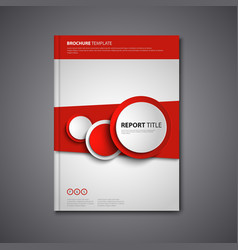 Brochures book or flyer with abstract round red vector