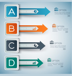 Business options infographics vector