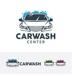 Car wash center logo design vector