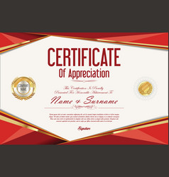 Certificate retro design template 2 vector