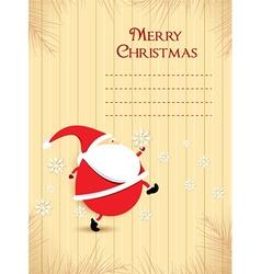 Christmas with santa vector