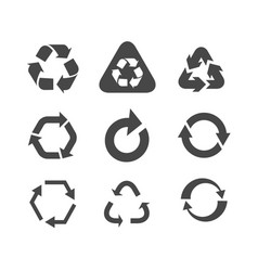 collection different arrow icons isolated on vector image