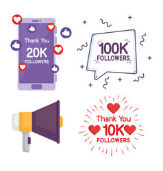 Collection labels followers vector