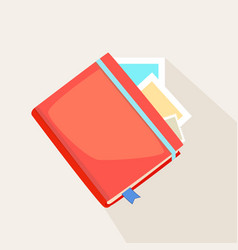 Colorful red journal vector