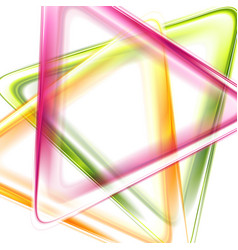 colorful smooth triangles tech abstract background vector image