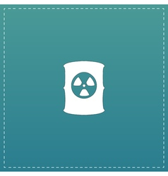 Container with radioactive waste icon vector image