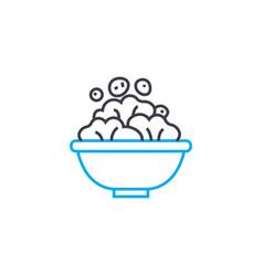 cornflakes linear icon concept cornflakes line vector image
