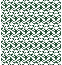 Dark olive green abstract damask pattern vector