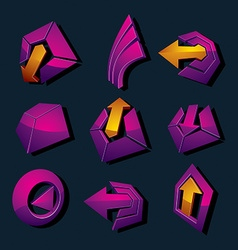 Dimensional business and corporate graphic symbols vector