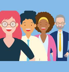 diversity man and woman vector image