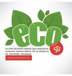 Eco banner vector