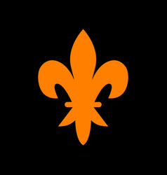 elements for design orange icon on black vector image