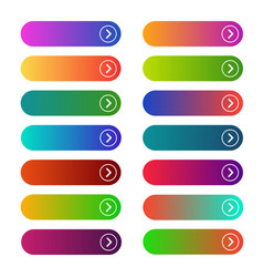 empty web buttons vector image