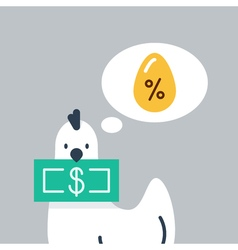 Finances investment concept vector image