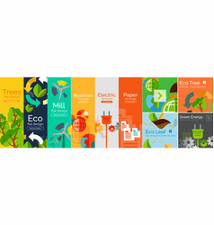 flat banner ecology concept vector image
