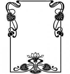Floral Art Nouveau frame vector