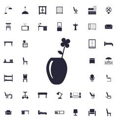 Flower vase icon vector
