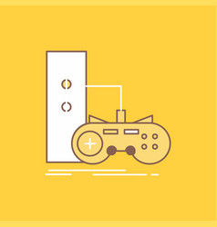 Game gamepad joystick play playstation flat line vector