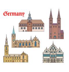 Germany landmark buildings architecture westphalia vector