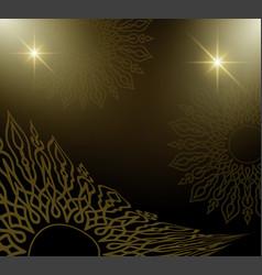 Golden mandala background vector