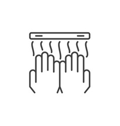 hand dryer concept icon or sign in outline vector image