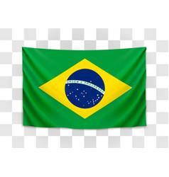 hanging flag brazil federative republic vector image
