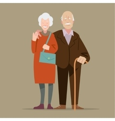 Happy cartoon grandparents vector image