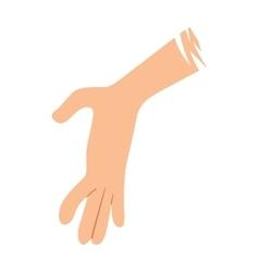 Help hand vector image