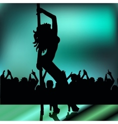 High quality girl striptease in club poledance go vector